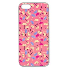 Umbrella Seamless Pattern Pink Apple Seamless iPhone 5 Case (Clear)