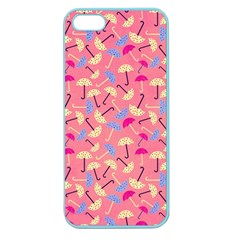 Umbrella Seamless Pattern Pink Apple Seamless Iphone 5 Case (color)