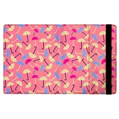 Umbrella Seamless Pattern Pink Apple iPad 3/4 Flip Case