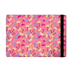 Umbrella Seamless Pattern Pink Apple iPad Mini Flip Case