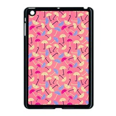 Umbrella Seamless Pattern Pink Apple Ipad Mini Case (black)
