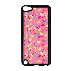 Umbrella Seamless Pattern Pink Apple iPod Touch 5 Case (Black)