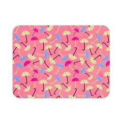 Umbrella Seamless Pattern Pink Double Sided Flano Blanket (mini)