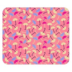 Umbrella Seamless Pattern Pink Double Sided Flano Blanket (Small)