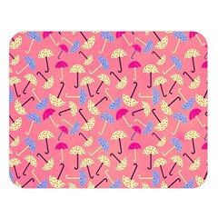 Umbrella Seamless Pattern Pink Double Sided Flano Blanket (Large)