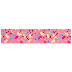 Umbrella Seamless Pattern Pink Flano Scarf (Small)
