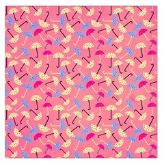 Umbrella Seamless Pattern Pink Large Satin Scarf (square)