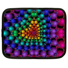 Mirror Fractal Balls On Black Background Netbook Case (large)
