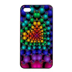 Mirror Fractal Balls On Black Background Apple Iphone 4/4s Seamless Case (black)