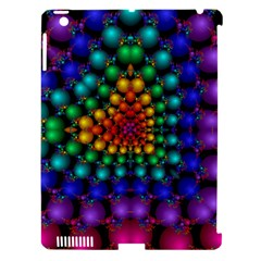Mirror Fractal Balls On Black Background Apple iPad 3/4 Hardshell Case (Compatible with Smart Cover)