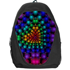 Mirror Fractal Balls On Black Background Backpack Bag