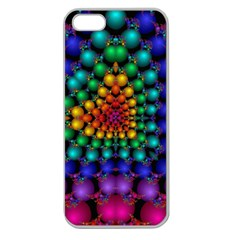 Mirror Fractal Balls On Black Background Apple Seamless iPhone 5 Case (Clear)
