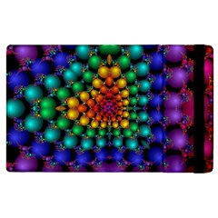 Mirror Fractal Balls On Black Background Apple iPad 2 Flip Case