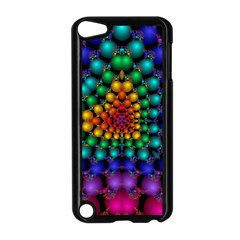 Mirror Fractal Balls On Black Background Apple iPod Touch 5 Case (Black)