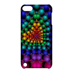 Mirror Fractal Balls On Black Background Apple Ipod Touch 5 Hardshell Case With Stand