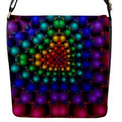 Mirror Fractal Balls On Black Background Flap Messenger Bag (S)
