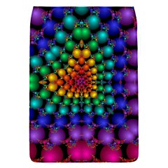 Mirror Fractal Balls On Black Background Flap Covers (S)