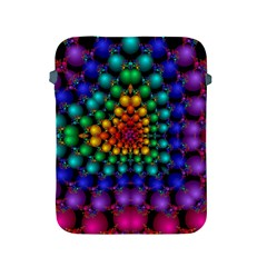 Mirror Fractal Balls On Black Background Apple Ipad 2/3/4 Protective Soft Cases