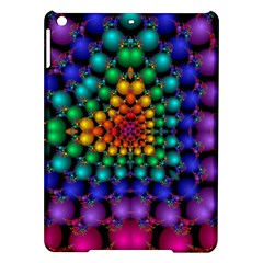 Mirror Fractal Balls On Black Background iPad Air Hardshell Cases