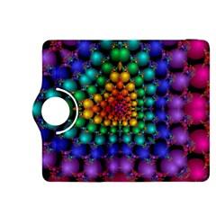 Mirror Fractal Balls On Black Background Kindle Fire HDX 8.9  Flip 360 Case