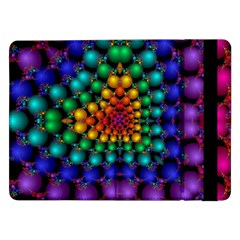 Mirror Fractal Balls On Black Background Samsung Galaxy Tab Pro 12.2  Flip Case