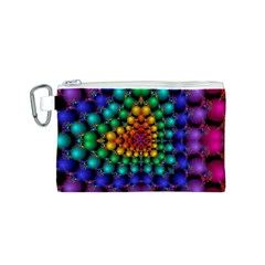 Mirror Fractal Balls On Black Background Canvas Cosmetic Bag (S)