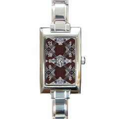 Ladder Against Wall Abstract Alternative Version Rectangle Italian Charm Watch