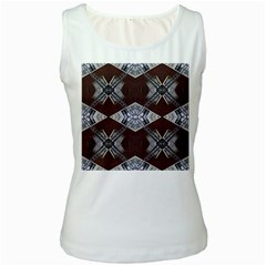 Ladder Against Wall Abstract Alternative Version Women s White Tank Top