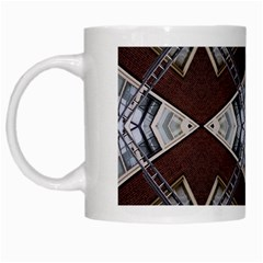 Ladder Against Wall Abstract Alternative Version White Mugs