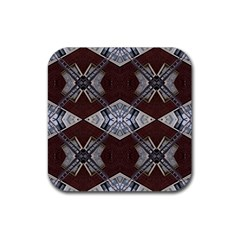 Ladder Against Wall Abstract Alternative Version Rubber Square Coaster (4 Pack)