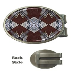 Ladder Against Wall Abstract Alternative Version Money Clips (Oval)