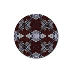 Ladder Against Wall Abstract Alternative Version Rubber Coaster (Round)
