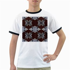 Ladder Against Wall Abstract Alternative Version Ringer T-Shirts