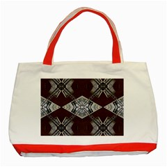Ladder Against Wall Abstract Alternative Version Classic Tote Bag (red)