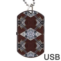 Ladder Against Wall Abstract Alternative Version Dog Tag USB Flash (One Side)