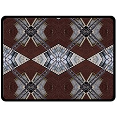 Ladder Against Wall Abstract Alternative Version Double Sided Fleece Blanket (Large)