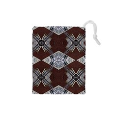 Ladder Against Wall Abstract Alternative Version Drawstring Pouches (Small)