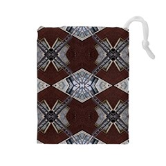 Ladder Against Wall Abstract Alternative Version Drawstring Pouches (large)