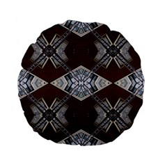 Ladder Against Wall Abstract Alternative Version Standard 15  Premium Flano Round Cushions