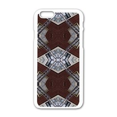 Ladder Against Wall Abstract Alternative Version Apple iPhone 6/6S White Enamel Case