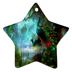 Beautiful Peacock Colorful Ornament (star)