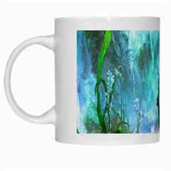 Beautiful Peacock Colorful White Mugs