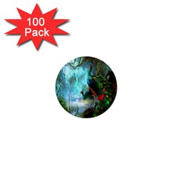 Beautiful Peacock Colorful 1  Mini Buttons (100 Pack)