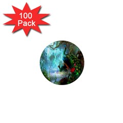 Beautiful Peacock Colorful 1  Mini Magnets (100 Pack)