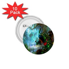 Beautiful Peacock Colorful 1.75  Buttons (10 pack)