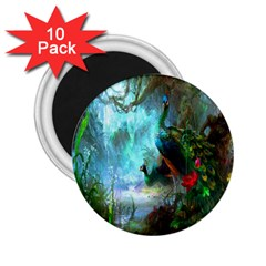 Beautiful Peacock Colorful 2.25  Magnets (10 pack)