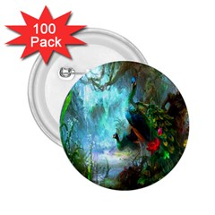 Beautiful Peacock Colorful 2 25  Buttons (100 Pack)