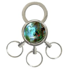 Beautiful Peacock Colorful 3-Ring Key Chains