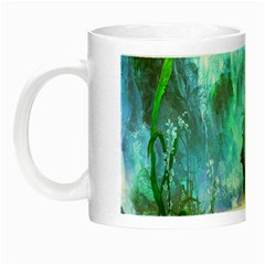 Beautiful Peacock Colorful Night Luminous Mugs