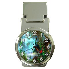 Beautiful Peacock Colorful Money Clip Watches